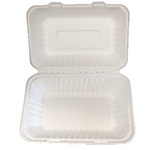 PRIMEWARE HINGED CONTAINER MOLDED FIBER 9X6 HOAGIE 2/125ct
