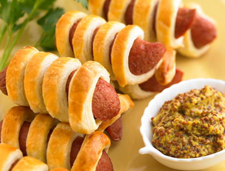 Puff Pastry Wrapped Cocktail Beef Franks 10-10 count